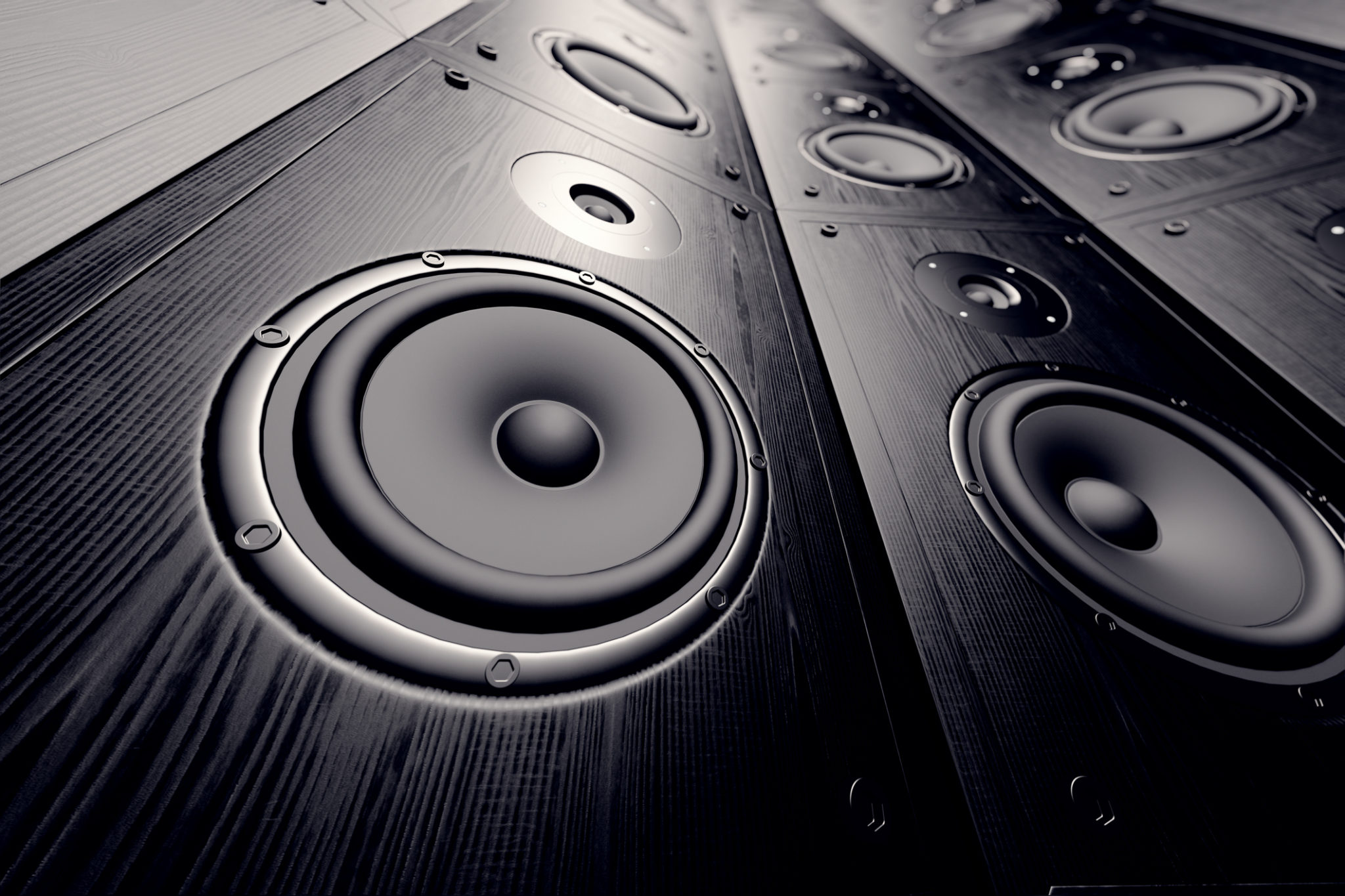 Large car stereo speakers installed by Stereo Specialists